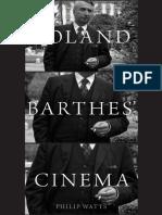 Watts,2016,Roland Barthes' Cinema