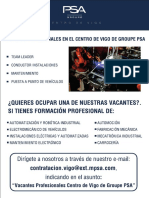 CARTEL Vacantes Profesionales Groupe PSA
