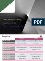 00 Threat Prevention Training Agenda