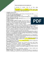 Contrato de Prestação de Serviços - Usucapião