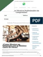 ¿Como Montar Un Gimnasio Con El Mínimo Gasto de Obras_ - Esarco.es