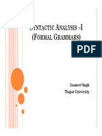 Syntactic Analysis –I