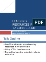 Learning Resources for K to 12 Curriculum (1).pptx