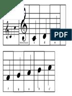 Tonleiter - Faltbuch