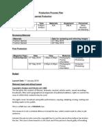 Production Process Plan FASHION SPREAD