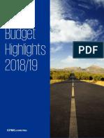 KPMG Budget Highlights 2018-2019