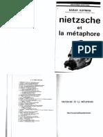 Nietzsche Et La Métaphore