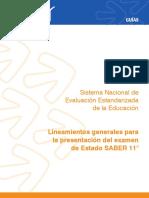 Lineamientos generales para la presentacion del examen de estado Saber 11 2015.pdf TIPOS DE PREGUNTAS.pdf