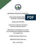 Estudio de Factibilidad Redencia Universitairia Quito Ecuador