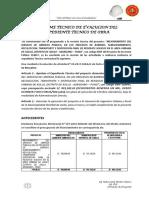 Informe Final de Evaluacion Del Proyecto Limpieza Publica Asillo
