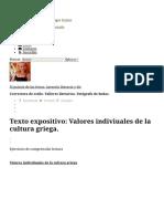 Texto Expositivo_ Valores Indiviuales de La Cultura Griega.