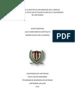 Sistema Para La Gestion de Informacion en El Area de Endodoncia