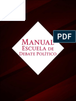 Manual Debate Político IMJUVE 2018