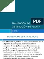 Planeación de La Distribución de La Planta