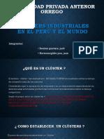 Clusters Industriales en El Perú y El Mundo