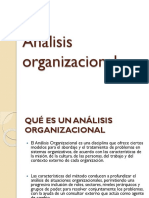 Analisis organizacional 1