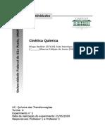 REL_5 - CINÉTICA QUÍMICA