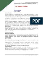 Especificación Tecnica de Drenaje Pluvial