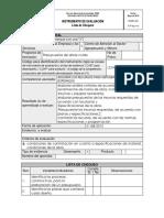 3.5 Lista de Chequeo Producto