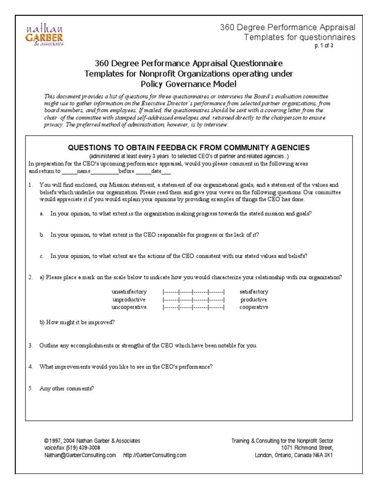 360 degree appraisals for improving job