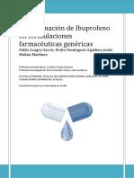 Determinacion de Ibuprofeno en Fc3a1rmacos Genc3a9ricos Memoria