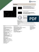 Karta Katalogowa Produktu EHF46547XK Pl-PL