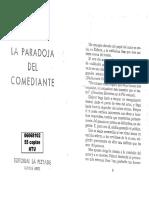 DIDEROT - La Paradoja Del Comediante, COMPLETO