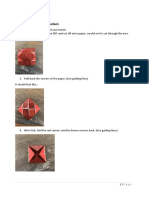 instructions for the origami  real