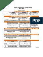 Horario III Trimestre 18, CLM, Diplomados y LP