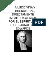 Una Luz Divina y Sobrenatural Jonathan Edwards