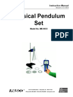 Physical Pendulum Set Manual ME 9833
