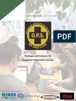 Data for Good Report for Overdose Prevention Society