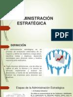 ADMINISTRACIÓN ESTRATÉGICA diapositiva
