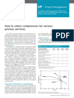 Compressor How to Select for Varios Services (Hp)