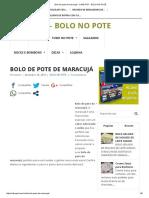 Bolo de Pote de Maracujá - CAKE POT - BOLO NO POTE