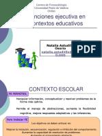 funciones ejecutivas en contextos educativos.