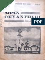 Arma Cuvantului anul IV, nr. 10-12, octombrie-dec. 1943