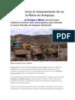 Southern inicia el relanzamiento de su proyecto Tía María en Arequipa.docx