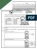 Problemas 4º Ano Copa Do Mundo 2018