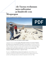 Alcaldes de Tacna Reclaman Unidad Para Enfrentar Problema Limítrofe Con Moquegua