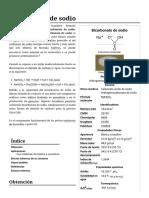 Bicarbonato de Sodio - Wikipedia, La Enciclopedia Libre