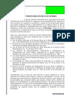 Analisis Ley de Minas
