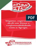 Marca Pagina Dizimista- FECHADO