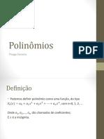Polinômios-resumo