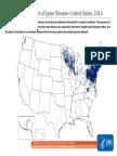 Lyme Disease Cases in US in 2016