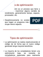 Tipos de Optimizacion