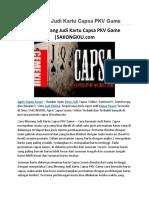 Cara Menang Judi Kartu Capsa PKV Game   SAKONGKIU.com