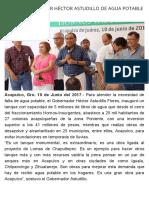 10-06-2017 Dota Gobernador Héctor Astudillo de Agua Potable a Acapulco.