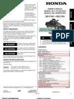 honda GCV 135-160 manual