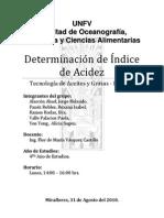 Determinación del índice de acidez